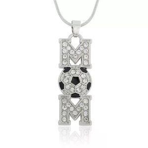 Jewelry - ⚽️Soccer Mom Silver Crystal Rhinestone Necklace
